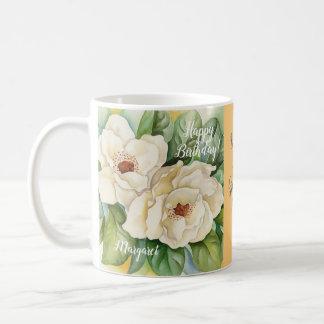 World's Best Grandma Ever Magnolia Flower Painting Coffee Mug