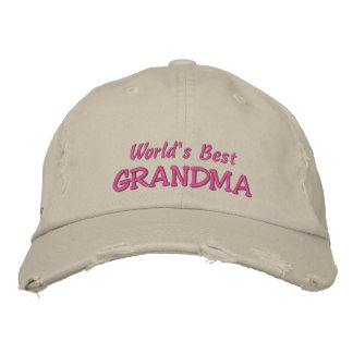 World's Best GRANDMA-from the kids Embroidered Baseball Hat