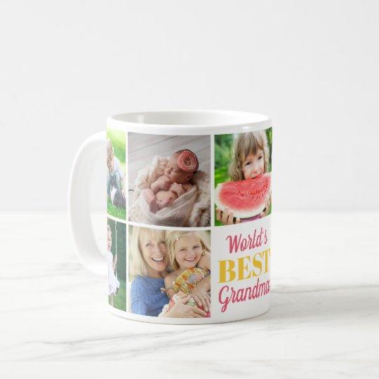 World's Best Grandma Grandkids 9 Photo Collage Coffee Mug