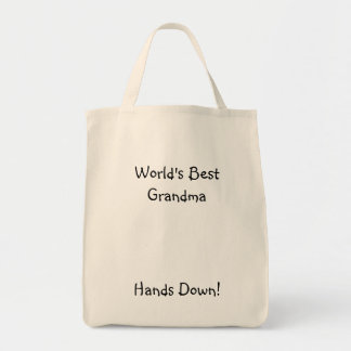 World's Best Grandma, Hands Down! Tote Bag