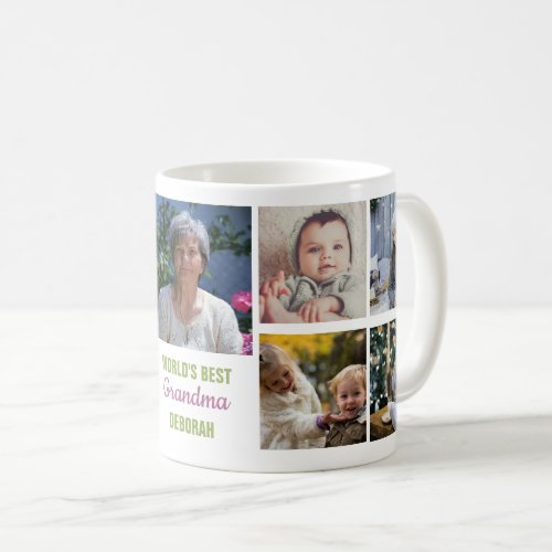 Worlds Best Grandma Instagram Photo Collage Name Coffee Mug