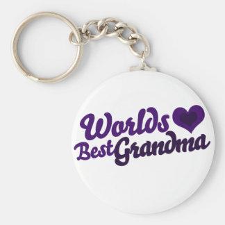 Worlds Best Grandma Basic Round Button Keychain