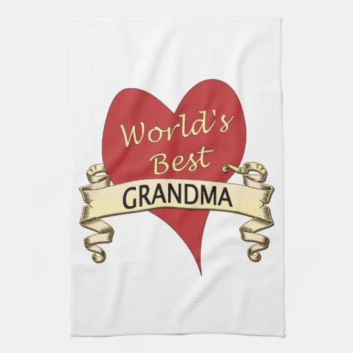 World's Best Grandma Kitchen Towels