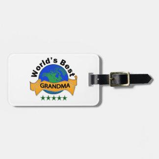 World's Best Grandma Travel Bag Tag
