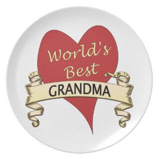 World's Best Grandma Melamine Plate
