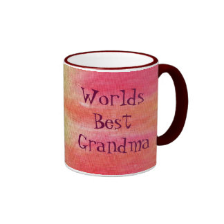 Worlds Best Grandma Ringer Coffee Mug