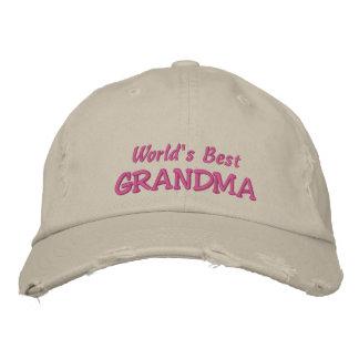 World's Best GRANDMA+Names of Grandkids Baseball Cap
