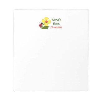World's Best Grandma Notepads