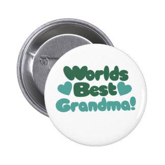Worlds Best Grandma Pinback Button