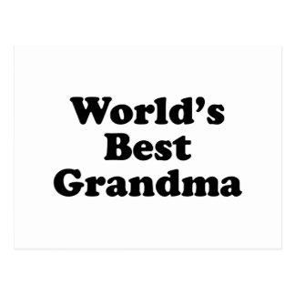 World's Best Grandma Postcard