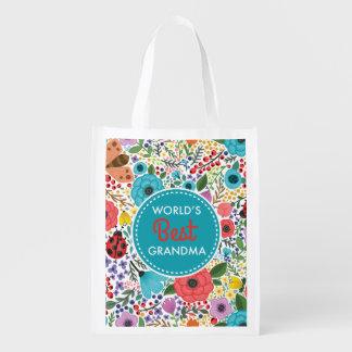 World's Best Grandma Reusable Grocery Bag
