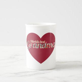 Worlds Best Grandma Porcelain Mug
