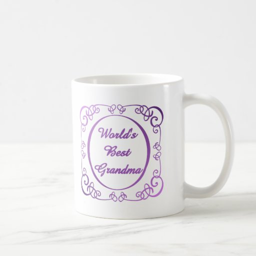 World's Best Grandma - Swirly Border Mug