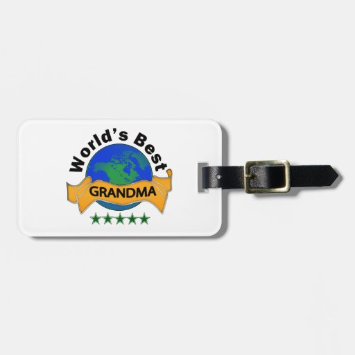 World's Best Grandma Tag For Luggage