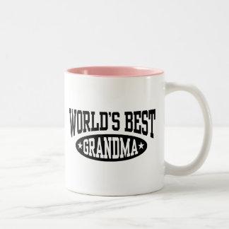 World's Best Grandma Two-Tone Coffee Mug