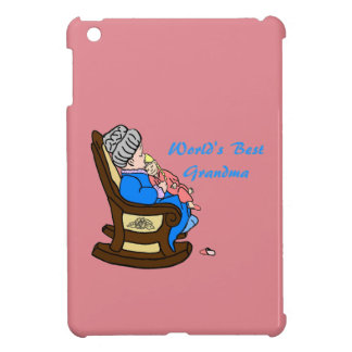 World's Best Grandma With Pink Background iPad Mini Covers