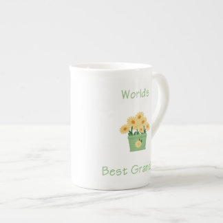 world's best grandma (yellow flowers) tea cup