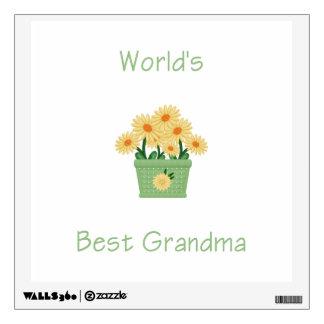 world's best grandma (yellow flowers) wall decal