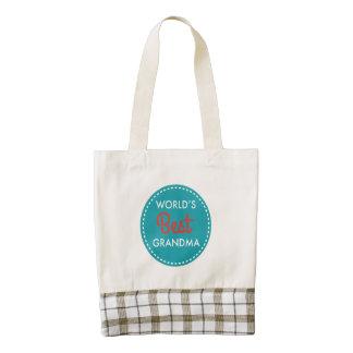 World's Best Grandma Zazzle HEART Tote Bag