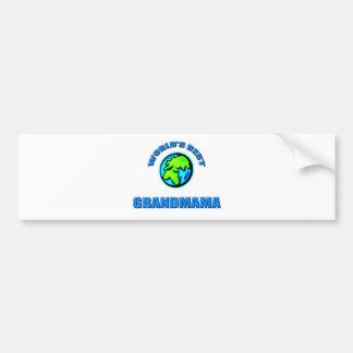 World's Best Grandmama Bumper Sticker