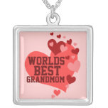 Worlds Best Grandmom (or any name) Custom Necklace