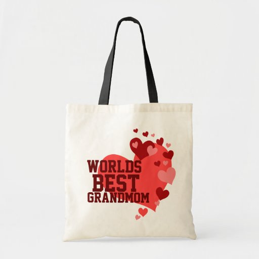 Worlds Best Grandmom Personalized Budget Tote Bag