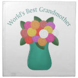 World's Best Grandmother Gifts, Tees - Mother's Da Printed Napkin