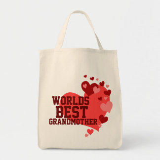 Worlds Best Grandmother Personalized Tote Bag