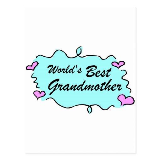 Worlds Best Grandmother Postcard