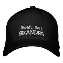 World's Best GRANDPA-Add short message! Embroidered Baseball Cap