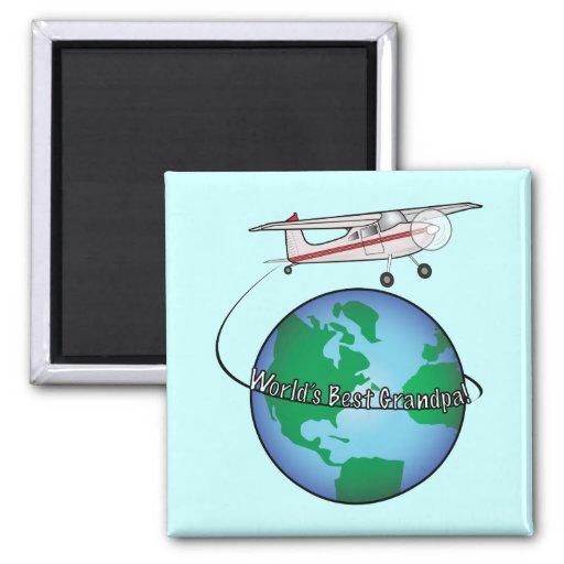 World's Best Grandpa Airplane Magnet