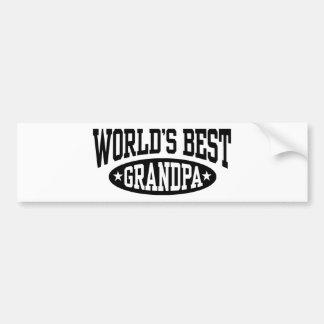 World's Best Grandpa Bumper Sticker