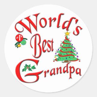 World's Best Grandpa Classic Round Sticker