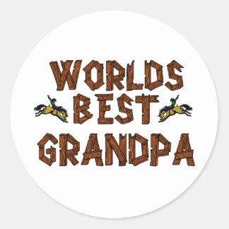 Worlds Best Grandpa Classic Round Sticker