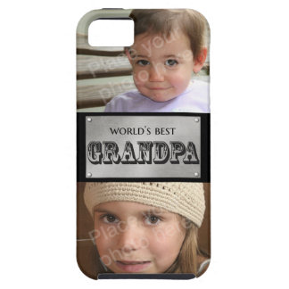 World's Best Grandpa - Custom 2 photos iPhone SE/5/5s Case