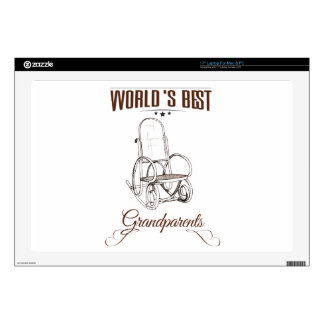 """World's best grandpa decals for 17"""" laptops"""