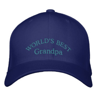 World's Best Grandpa Embroidered Baseball Cap