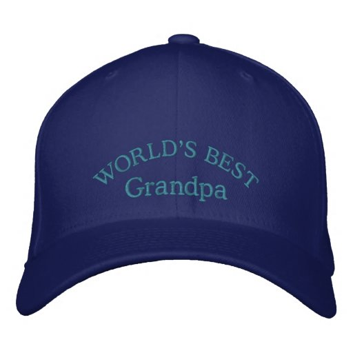 World's Best Grandpa Embroidered Baseball Cap