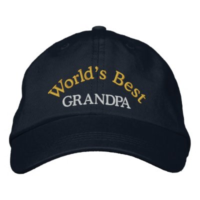 World's Best Grandpa Embroidered Baseball Cap/Hat Embroidered Baseball Cap