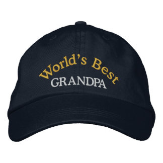 World's Best Grandpa Embroidered Baseball Cap/Hat Embroidered Baseball Hat