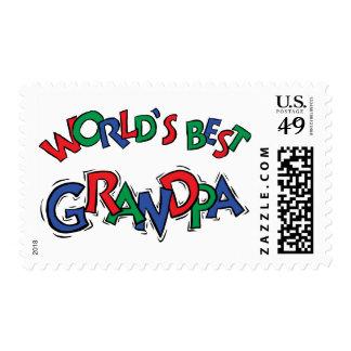 World's Best Grandpa Gift Postage