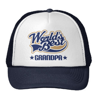 Worlds Best Grandpa Gift Trucker Hat