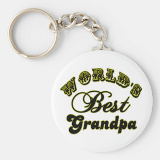 World's Best Grandpa Gifts and Apparel Basic Round Button Keychain