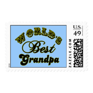 World's Best Grandpa Gifts and Apparel Postage Stamp