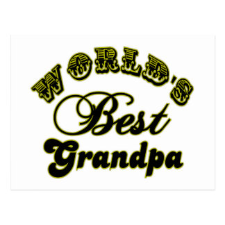 World's Best Grandpa Gifts and Apparel Postcard