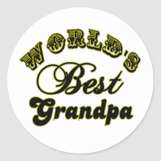 World's Best Grandpa Gifts and Apparel Round Stickers
