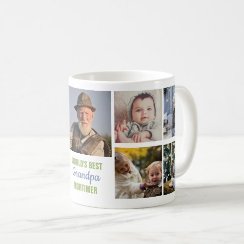 Worlds Best Grandpa Instagram Photo Collage Name Coffee Mug