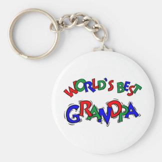 World's Best Grandpa Key Chain
