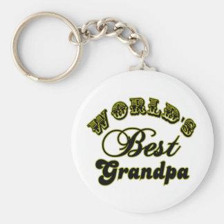 World's Best Grandpa Keychain Basic Round Button Keychain