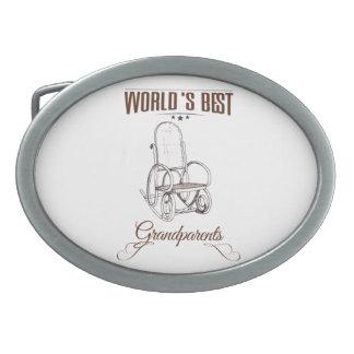 World's best grandpa oval belt buckle